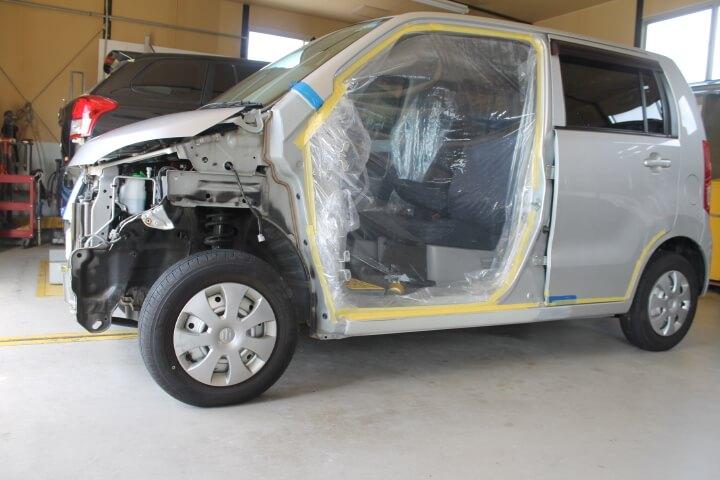 SUZUKI MH23S ワゴンR 左サイドシル修理塗装