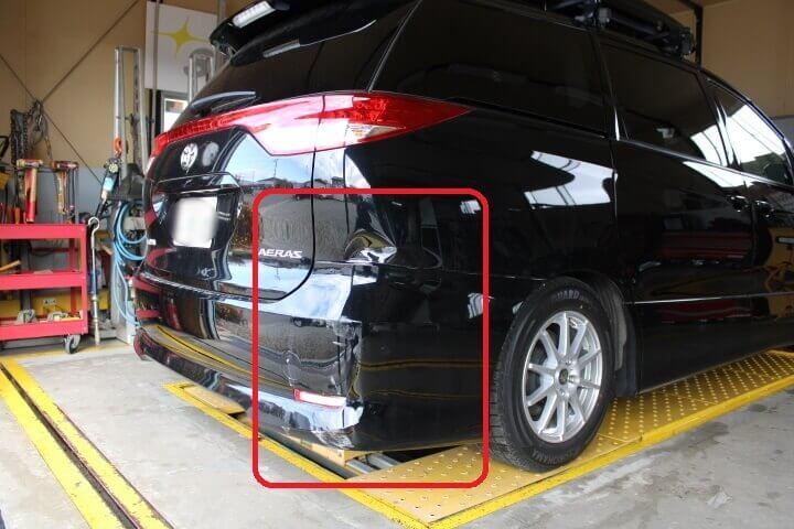 車両保険で修理 エスティマ